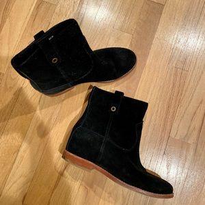Cole Haan hidden wedge suede boot